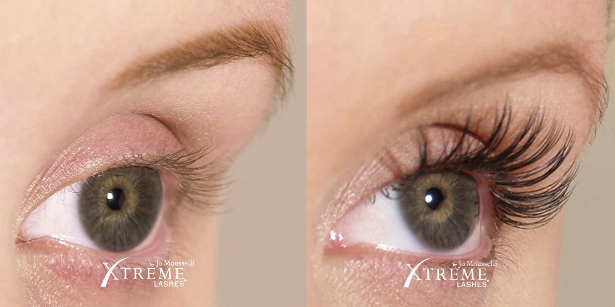 Xtreme Lashes Before And After Jo Mousselli Eyelash Extensions